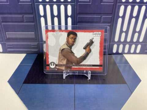 Topps Star Wars Rise of Skywalker Weapons Finn's GLIE-44 Blaster (W-3) Red /99