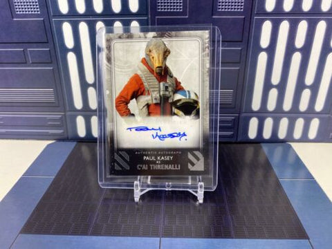 2020 Topps Star Wars Rise of Skywalker S2 Paul Kasey as C'ai Threnalli Base Auto