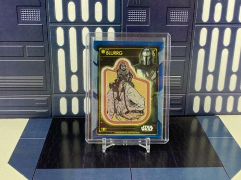 2020 Topps Star Wars Holocron Creature Patch Blurrg & The Mandalorian Blue /50