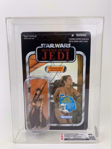 Star Wars Vintage Collection CAS GRADED 85+ REVENGE Slave Leia VC64 UNPUNCHED