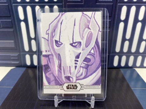Topps Star Wars Chrome Legacy sketch - General Grievous by Bill Pulkovski 1/1