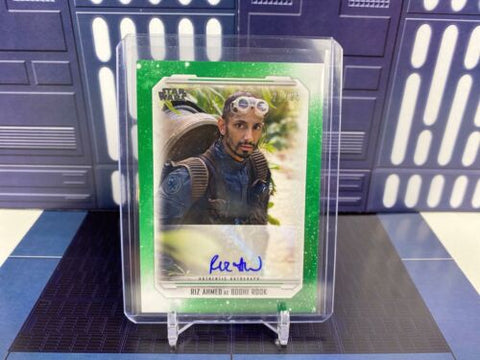 Topps Star Wars Skywalker Saga - Riz Ahmed as Bodhi Rook Auto - Green /25