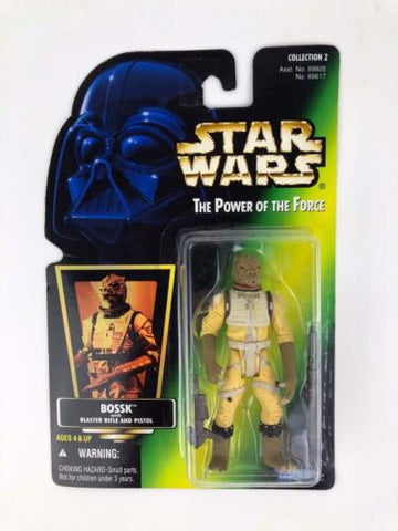 Star Wars Power of the Force 2 (POTF2 - Green Hologram) Bounty Hunter Bossk