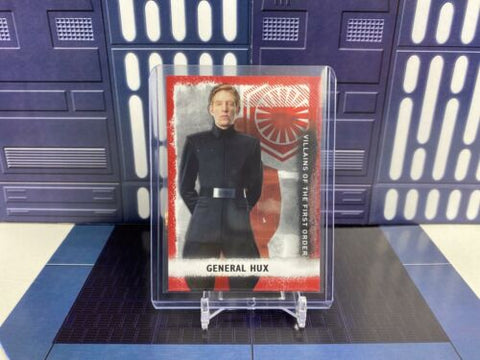 Topps Star Wars Rise of Skywalker Villains First Order General Hux V-2 Red /99