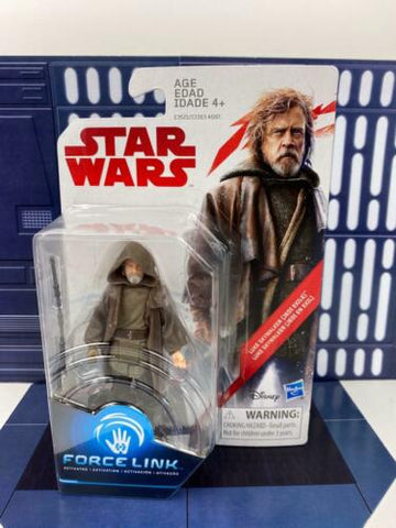 Star Wars Force Link Luke Skywalker (Jedi Exile) 3.75 Figure The Last Jedi (TLJ)