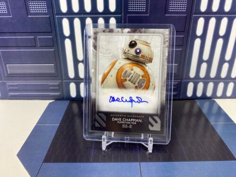 2020 Topps Star Wars Rise of Skywalker S2 Dave Chapman as BB-8 Base Auto