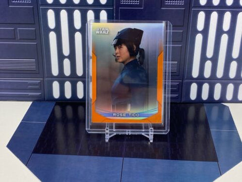 2020 Topps Star Wars Chrome Perspectives ROSE TICO- #12-F Orange Refractor /25