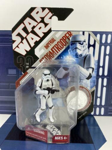 Star Wars 30th Anniversary (TAC) Imperial Stormtrooper #20 - W/ Coin - 2007 MOC