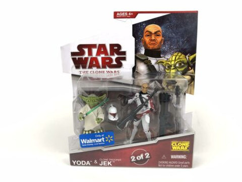 Star Wars Clone Wars Jedi Yoda & Clone Trooper Jek Walmart Exclusive 2 of 2