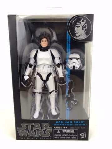 "Star Wars Black Series 6"" Han Solo (Stormtrooper Disguise) #09 - 100% Authentic"