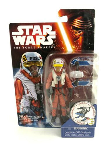 "Star Wars The Force Awakens (TFA) X-WING PILOT ASTY - 3.75"" Hasbro Figure"