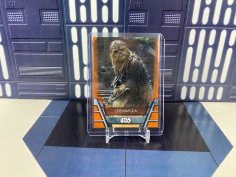 2020 Topps Star Wars Holocron Orange Parallel /99 - Chewbacca - #RES-5