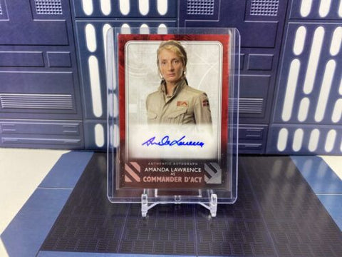 Topps Star Wars Rise of Skywalker Amanda Lawrence Commander D'Acy Auto Red /99