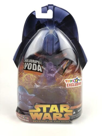 Star Wars Revenge of the Sith (ROTS) Jedi Yoda (Holographic) Toys R Us Exclusive