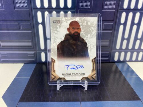 2020 Topps Star Wars The Mandalorian Tait Fletcher as Alpha Trawler Auto #A-TF