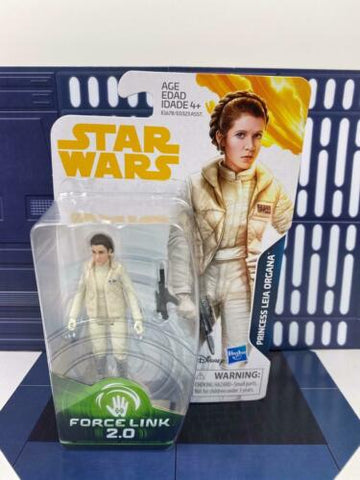 "Star Wars Force Link Princess Leia Organa (Hoth) 3.75"" Empire Strikes Back ESB"
