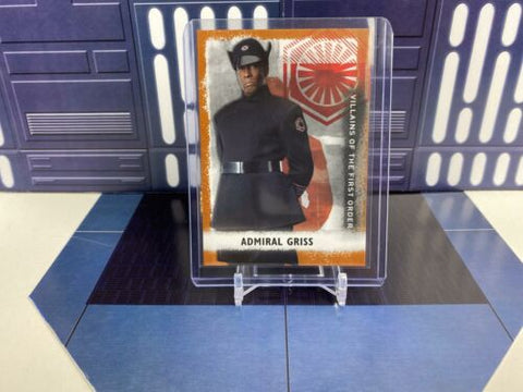 Star Wars Rise of Skywalker Villains First Order Admiral Griss V-7 Bronze /50