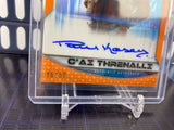 Topps Star Wars Chrome Perspectives Paul Kasey Threnalli On-Card Auto /50 Orange