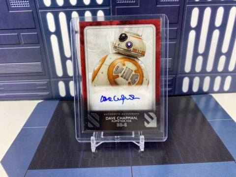 2020 Topps Star Wars Rise of Skywalker S2 Dave Chapman as BB-8 Auto Red /99