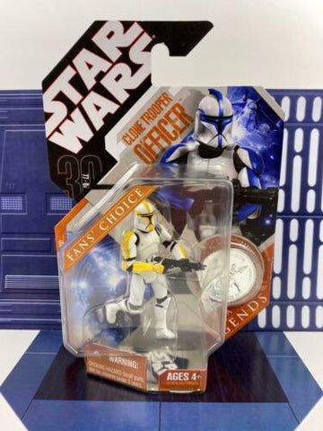 Star Wars 30th Anniversary Saga Legends Clone Trooper Officer (Commander Yellow)