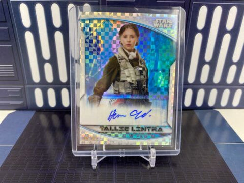 Topps Star Wars Chrome Perspectives Hermione Corfield Tallie Lintra Auto /99