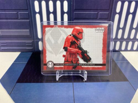 Topps Star Wars Rise of Skywalker Weapons Sonn-Blas Sith Blaster (W-10) Red /99