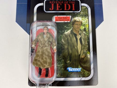 Star Wars Vintage Collection ROTJ REVENGE Han Solo (Trench Coat) VC62 UNPUNCHED