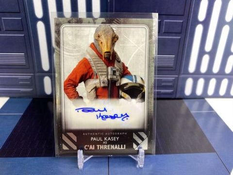2020 Topps Star Wars Rise of Skywalker Paul Kasey C'ai Threnalli Silver /25 Auto