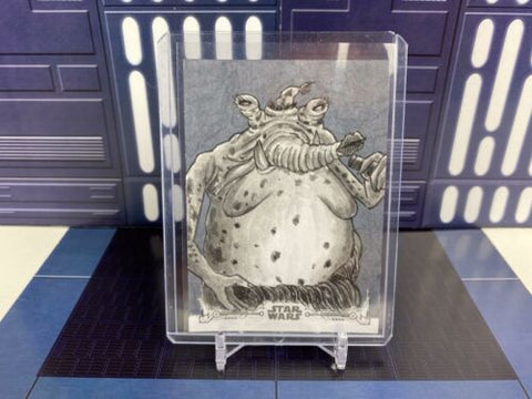Topps Star Wars ROTJ Black & White 1/1 Sketch - Sy Snootles - By Shaow Siong
