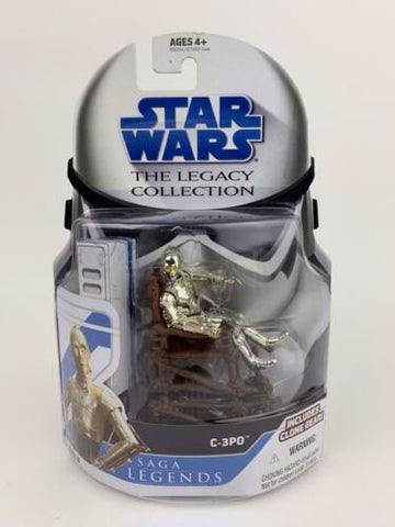 Star Wars Legacy Saga Legends C-3PO Protocol Droid W/ Ewok Throne (ROTJ) - SL 6