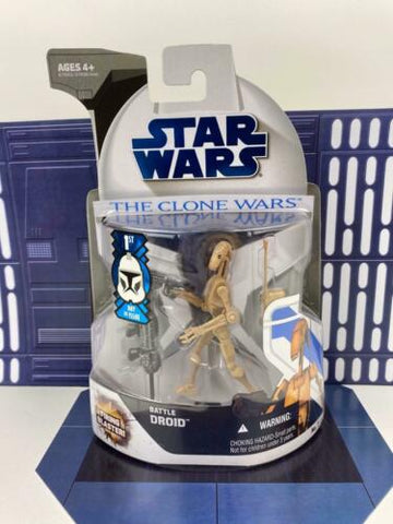 Star Wars Clone Wars (TCW) Battle Droid (1st Day of Issue) - #7 - Hasbro 2008