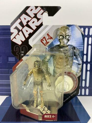 Star Wars 30th Anniversary (TAC) CZ-4 (Jabba's Palace Droid) #26 (ROTJ) W/ Coin