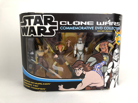 Star Wars Clone Wars Jedi Commemorative Collection (Anakin Skywalker -Saesee Tiin - Clone Trooper)