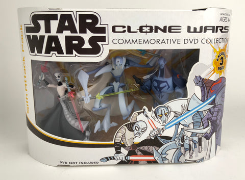 Star Wars Clone Wars Commemorative Collection Sith Attack Pack (Grievous-Asajj-Durge)