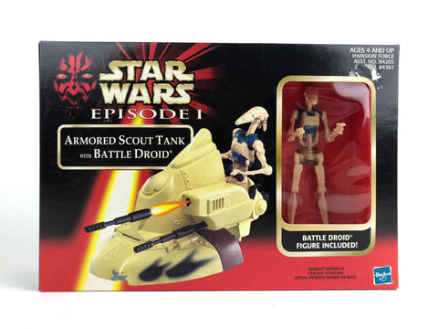 "Star Wars Episode 1 3.75"" Armored Scout Tank W/ Battle Droid (Closed Font Box)"