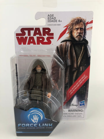 Star Wars Last Jedi Force Link Luke Skywalker (Jedi Exile) 3.75""
