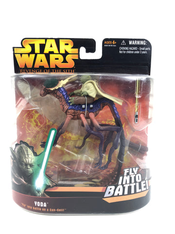 "Revenge of the Sith (ROTS) Deluxe Yoda ""Fly in to Battle"""