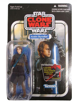 Star Wars Vintage Collection Clone Wars Jedi Anakin Skywalker VC92 Unpunched MOC