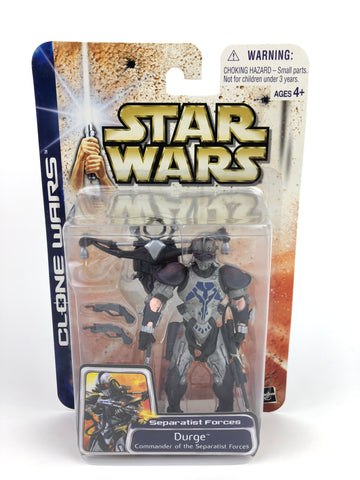 "Clone Wars - 3.75"" Figure Durge (Seperatist Army Leader - Bounty Hunter)"