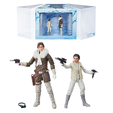 "Star Wars The Black Series 6"" - Princess Leia Organa and Han Solo Hoth Exclusive"
