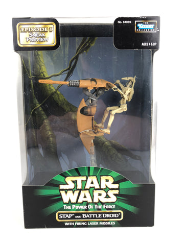 Star Wars POTF2 Stap and Battle Droid Sneak Preview (Episode 1)
