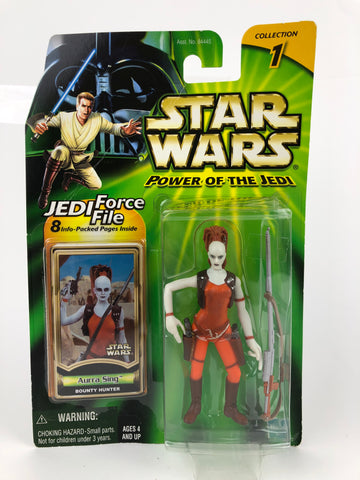 "Power of the Jedi (POTJ) 3.75"" Figure Aurra Sing (Bounty Hunter)"