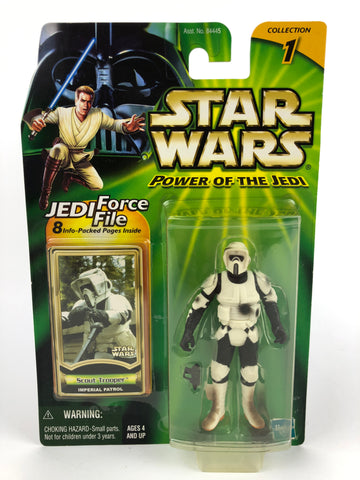 "Power of the Jedi (POTJ) 3.75"" Figure Scout Trooper Imperial Patrol (Dirty)"