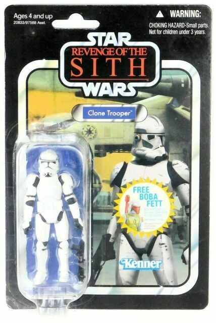 HASBRO STAR WARS ACTION FIGURE CLONE TROOPER ROTS VINTAGE COLLECTION 2010