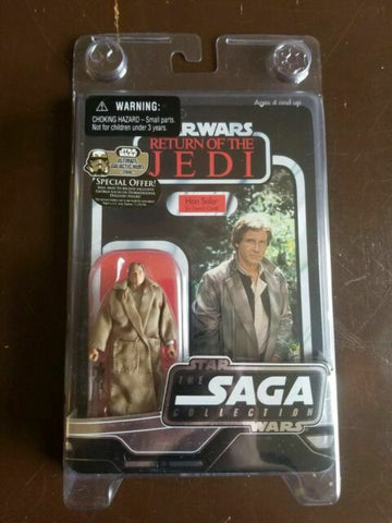 Star Wars Saga Vintage Collection Han Solo (Trench Coat) - ROTJ - UNPUNCHED