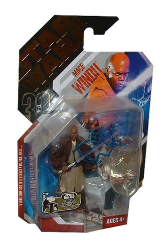 Star Wars 30th Anniversary Jedi Mace Windu W/ Sith Lightning #06 Loose Complete
