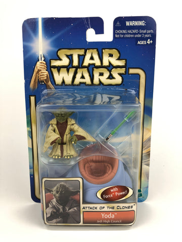 "Saga Attack of the Clones - 3.75"" Figure - Master Yoda (Jedi High Council) #53"