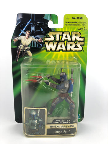 "Power of the Jedi (POTJ) 3.75"" Figure Jango Fett Saga AOTC Sneak Preview"