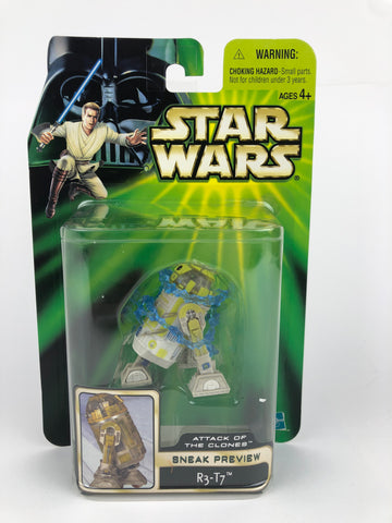 "Power of the Jedi (POTJ) 3.75"" R3-T7 Astromech Droid SAOTC Sneak Preview 3.75"""