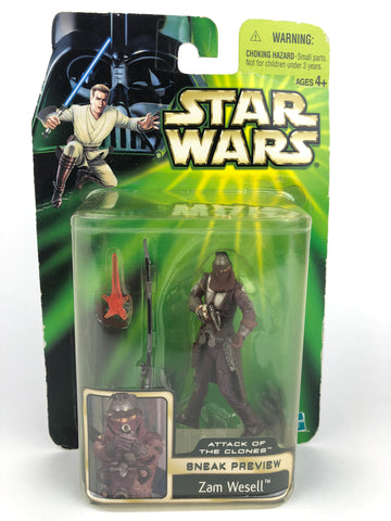 "Power of the Jedi (POTJ) 3.75"" Zam Wessel  AOTC Sneak Preview"
